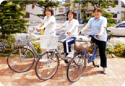 自転車で皆様のお宅に伺います!